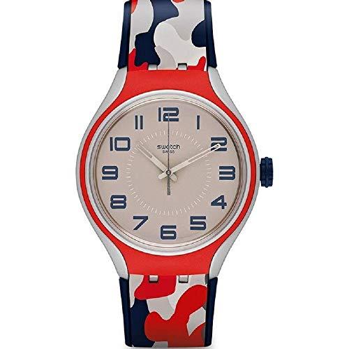 Swatch YES1000 Irony - Reloj unisex, color azul y rojo