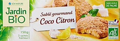 Jardin Bio Sablé Gourmand Coco Citron 150 g