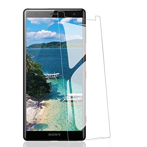 ATUIO Vetro Temperato per Sony Xperia XZ2 [3 Pezzi], Protezioni per Lo Schermo [9H Durezza] [Alta sensibilità] [Senza Bolle] [HD Trasparente] Pellicola Protettiva per Sony Xperia XZ2