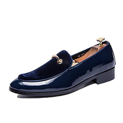 Mocasines para Hombre, Zapatos de Oficina de Charol de Corte bajo, Zapatos...
