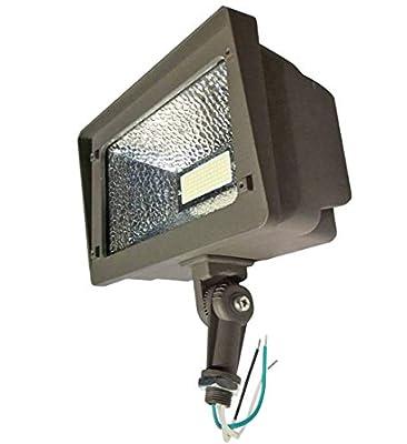 AntLux Outdoor LED Flood Lights 70W, 180 Degree Adjustable Knuckle Mount, 7800 Lumens, 5000K, IP66 Waterproof Area Perimeter and Security Lighting Fixture, LED Floodlight for Yard, Garden, Landscape