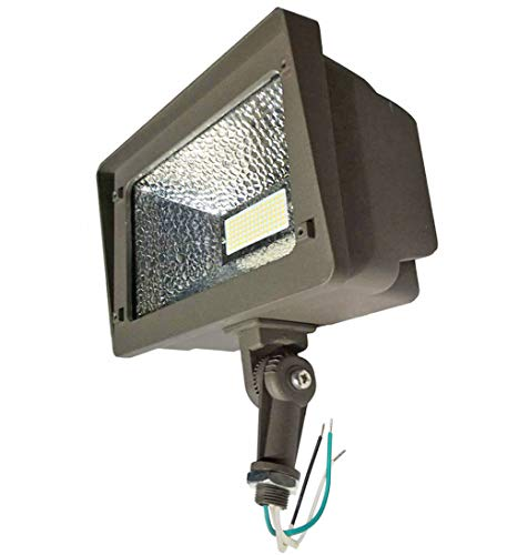 AntLux Outdoor LED Flood Lights 70W, 180 Degree Adjustable Knuckle Mount, 7800 Lumens, 5000K, IP66 Waterproof Area Perimeter and Security Lighting Fixture, LED Floodlight for Yard, Garden, Landscape