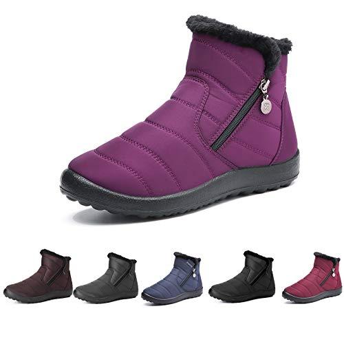 Botas de Nieve para Mujer,Camfosy Botines de Invierno...