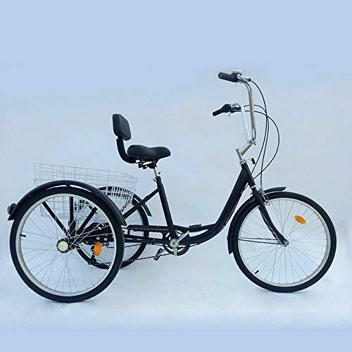 24' 6 Speed 3 Wheel Adult Tricycle - Trike Cruiser Bike, Cargo Trike Cruiser...