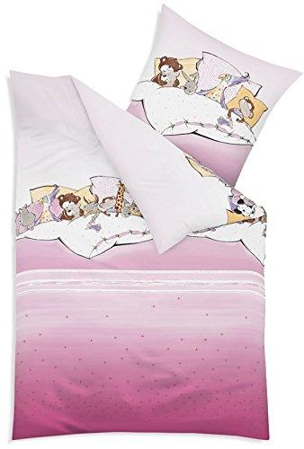 Kaeppel Biber Bettwäsche Kinderbettwäsche Mädchen Pyjamaparty 100x135 + 40x60 (682 rosa)