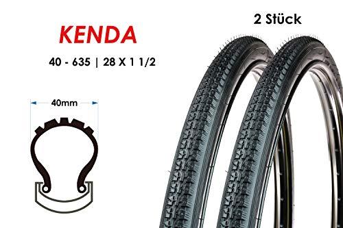 2 Stück 28 Zoll Kenda 40-635 Fahrrad Holland City Reifen 28x1 1/2 Mantel Tire