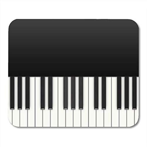 Yanteng Almohadillas para Mouse Teclas Piano Instrumento de música Musical Pianista Mouse Mat Alfombrilla para ratón Adecuado para computadoras Accesorios de Oficina