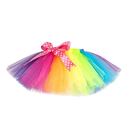 Fenical Kids Rainbow Tutu Skirt ...
