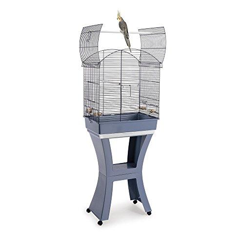 IMAC 13555, Calla per uccelli con supporto e ruote, Blu