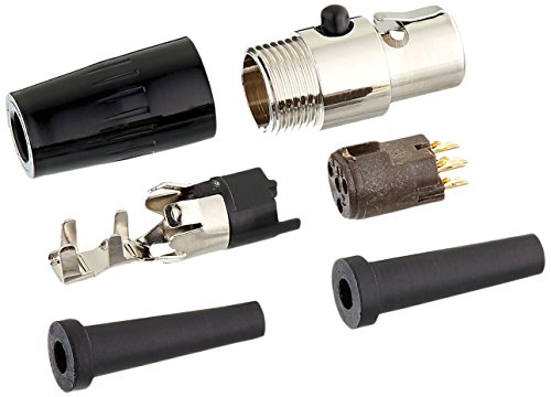 Shure WA330 4-Pin Mini Connector (TA4F) Adapts Small-Diameter Microphone Cable to the Shure Body-Pack Transmitters