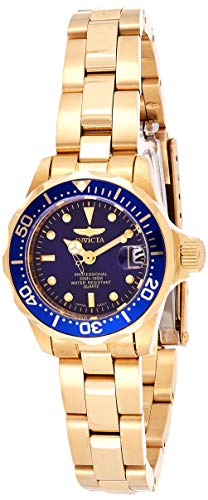 Invicta Women's Pro Diver GQ 8944 Gold Stainless-Steel Plated Japanese Quartz Fashion Watch