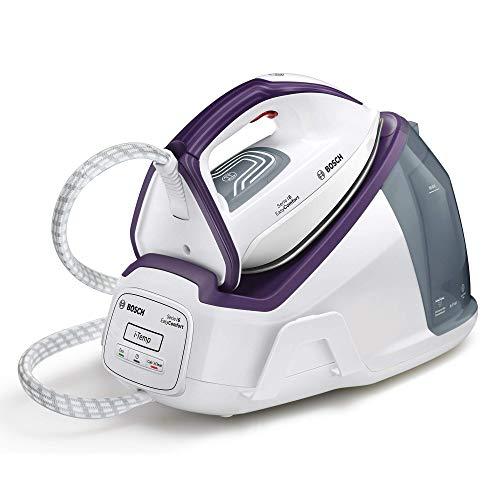 Bosch Hogar TDS6110 Serie I 6 EasyComfort Centro De Planchado, 2.400 W, 6 Bares, con 360 G De Supervapor, Tecnología Itemp, Modo Eco, 2400 W, 1.3 litros, Plástico, Blanco y Violeta