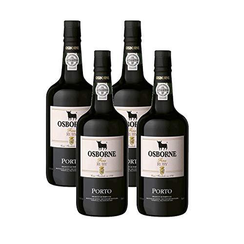Vino Oporto Ruby de 75 cl - D.O. Oporto - Bodegas Osborne (Pack de 4 botellas)