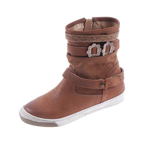 Braqeez Kinderschuhe für Mädchen Stiefel Cognac Braun 417650513 (30 EU)