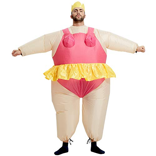 TOLOCO Inflatable Costume | Halloween Animal Cosplay Costumes for Adult | Blow Up Costume,One Size Fits Most (Ballet)