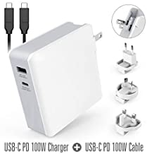 Alsterplus 45W / 61W / 87W / 100W / 112W USB C Charger Adapter - PD 3.0 USB C Cable Compatible for Wacom MobileStudio Pro, Macbook Pro, Macbook Air ThinkPad, Laptop, Notebook, HP ASUS Samsung Lenovo