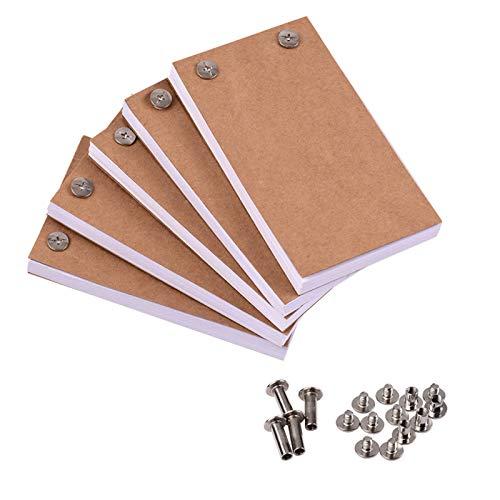 Festnight Leeres Flipbook-Kit mit 300 Blatt Animationspapier Flipbook-Bindeschrauben für LED-Lichterkettenzeichnung Skizzieren von Animations-Cartoon-Erstellung