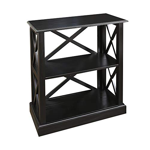 Casual Home Jackson Bookcase Drawer, Concealment Furniture, Black