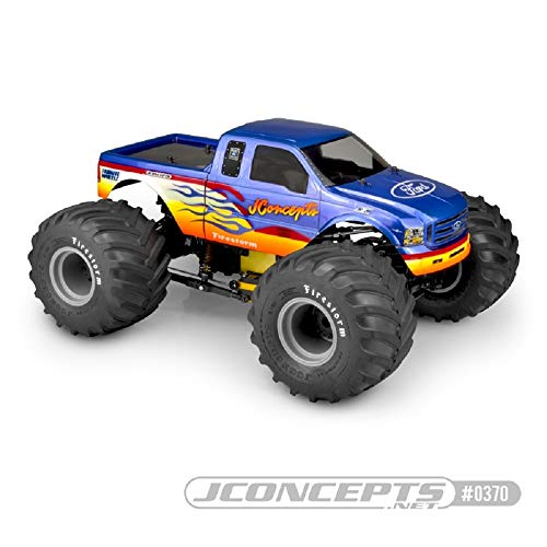 J Concepts Inc. 1/10 2005 Ford F-250 Super Duty Monster Truck Clear Body, JCO0370