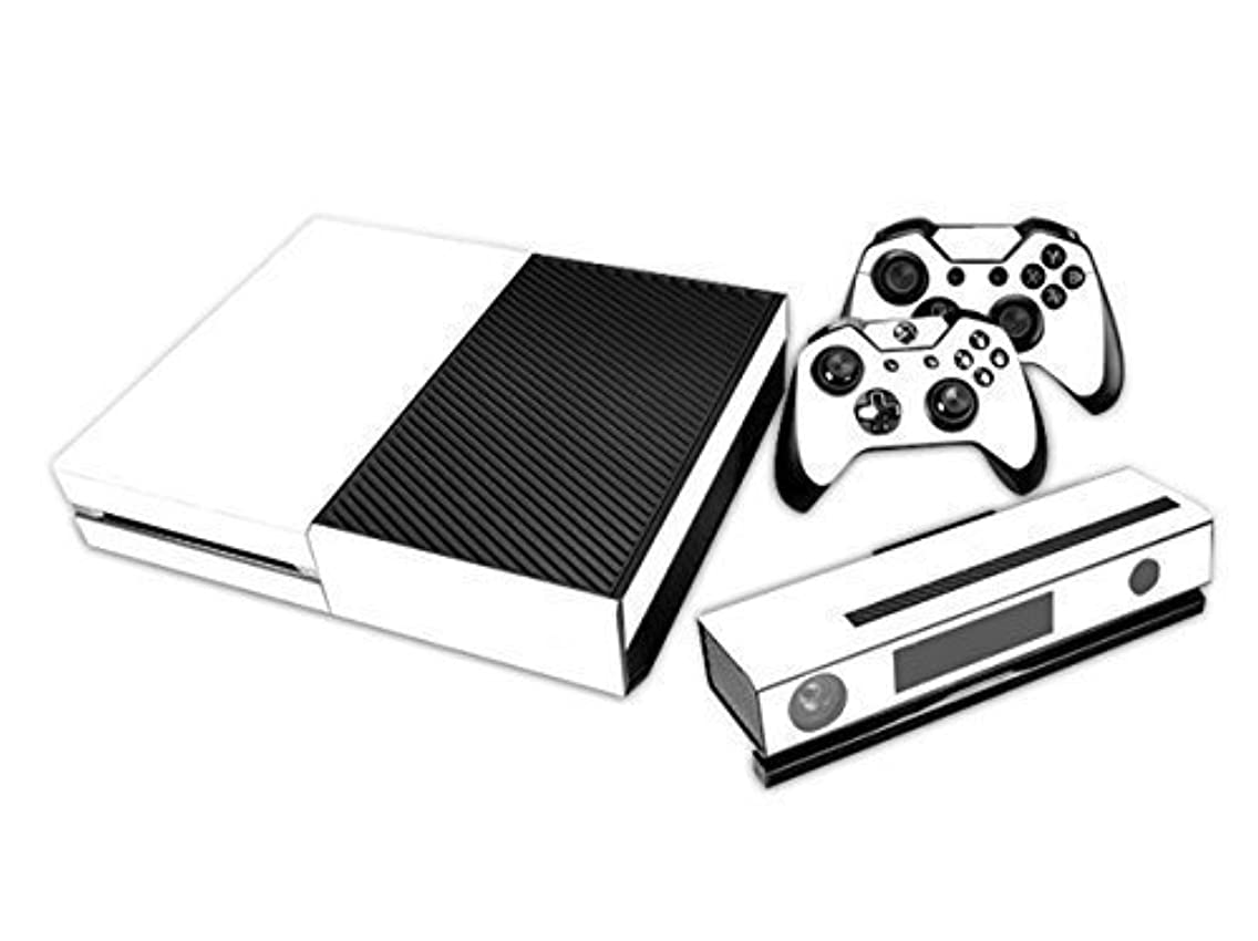 NDAD Full Body Screen Protector Pure White Skin Decal For Xbox one Console and 2PCS Xbox one Controller Skins Stickers (White)
