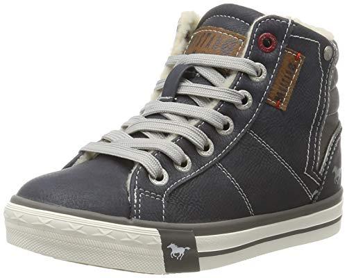 MUSTANG Unisex-Kinder 5024-602-800 Hohe Sneaker, Blau (Dunkelblau 800), 37 EU