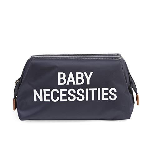 BABY NECESSITIES Kulturtasche Kosmetiktasche Babypflege in blau mit großer Öffnung, bleibt offen stehen