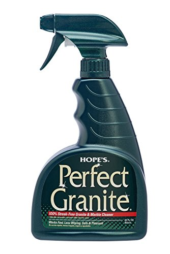 HOPE'S Perfect Granite & Marble Cleaner, 22-Ounce, Safe, Streak, Ammonia-Free Granite Cleaning Spray, Pack of 1, 22 Ounce, Fl Oz