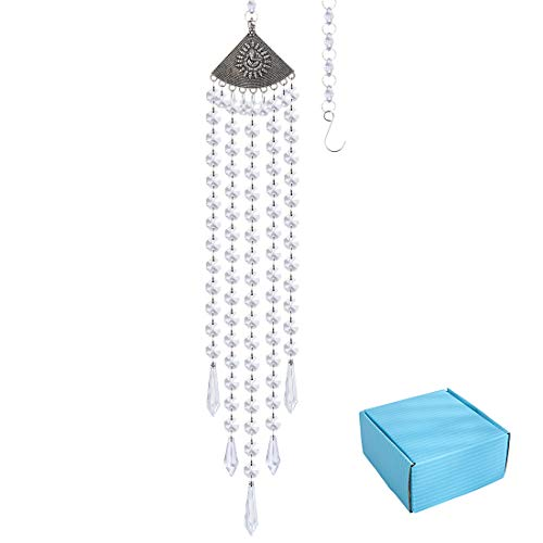 Hanging Clear Crystal Suncatcher Ornaments with Ganesha Decor Protection CharmChandelier Lamps Crystal Beads Pendant
