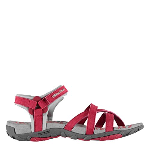 Karrimor Womens Salina Leather Walking Sandals Strap Touch and Close Outdoor Raspberry UK 5 (38)
