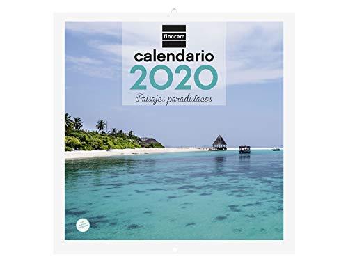 Finocam - Calendario de pared 2020 Imágenes 30x30 Paisajes Paradisíacos español