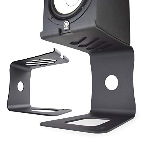 Soundrise PRO Studio Monitor Speaker Stands, Pair, Professional Desktop, DJ and Sound Technician Reference Support, Front Surround Sound with...