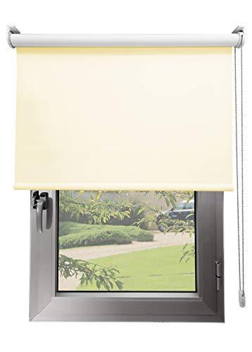 Estor Opaco TÉRMICO Premium A Medida, Desde 40 a 300 cm de Ancho. Cierra el Paso de luz, conserva tu intimidad. Color Beige. Estores Enrollables para Ventanas y Puertas.