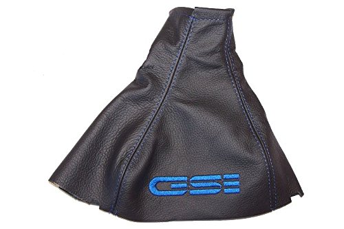 Für Vauxhall Opel Astra F Mk31991–1997Schaltsack schwarz Leder blau GSI Stickerei