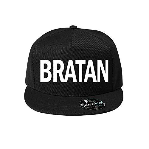 Bratan Baumwolle Baseball Cap, Basecap - Unisex Kappen, Sport, Reisen, Style - Baseballkappe Kappe, Mütze (418-Cap5P-1Schwarz)