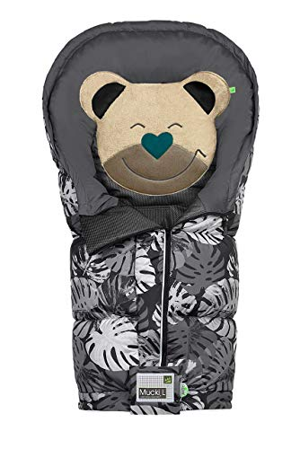 Odenwälder BabyNest Fußsack Mucki L fashion tropical leaves black-graphite