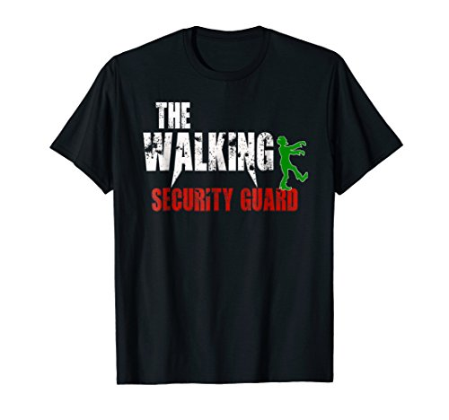 The Walking Security Guard t-shirt, gift BodyGuard zombie