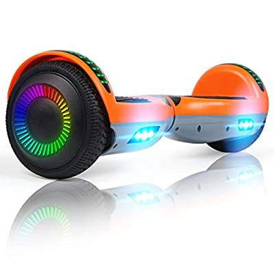 "Hoverboard for Kids, 6.5"" Hoverboard Self Balancing Electric Scooter 8.5"" All Terrain Segway Off-road Board with LED Light for Kids and Adults-with Bluetooth"