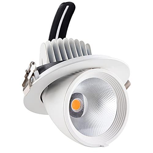 LogIme Luz empotrada del Techo, proyección LED de Alta Color, luz de Tronco de mazorca sin estroboscópica, Ajustable en Cualquier ángulo, Adecuado para iluminación Comercial, 9W / 15W, 24W / 36W