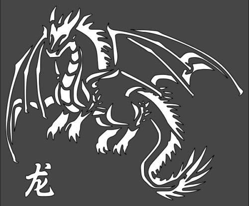 Custom Stencil 8x8 inches Dragon Myth Fairytale Medieval
