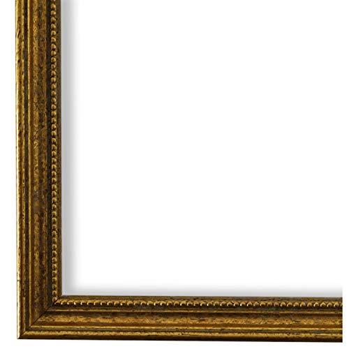 Bilderrahmen Gold DIN A4 (21,0 x 29,7 cm) cm - Antik, Barock, Klassisch - Alle Größen - handgefertigt - Galerie-Qualität - WRF - Empoli 1,5
