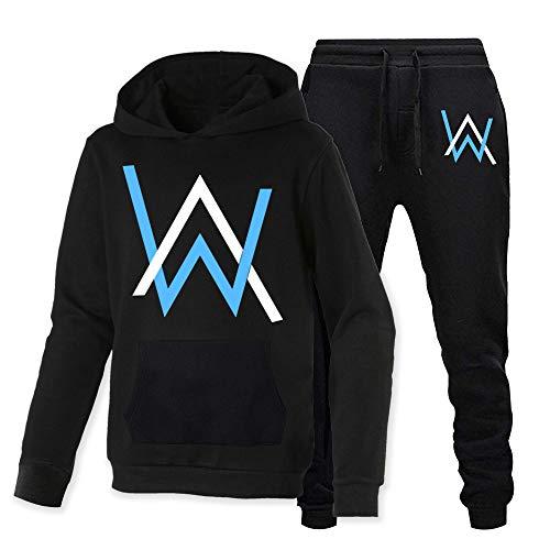 Alan Walker Blue Logo Felpa Con Cappuccio Maglione Due Pezzi Moda Felpa Uomo e Donne A. Alan Walker L
