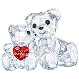 Swarovski Kris Bär - You Are The Best Figurine, Cristal, Multicolor Claro 3,3 x 4,9 x 2,9...
