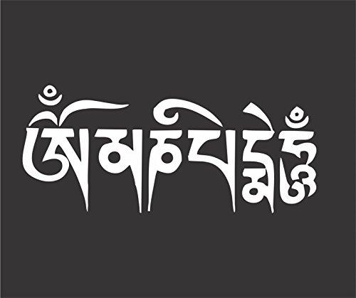ION Graphics Buddha Sticker Om Mani Padme Hum Decal Window Bumper