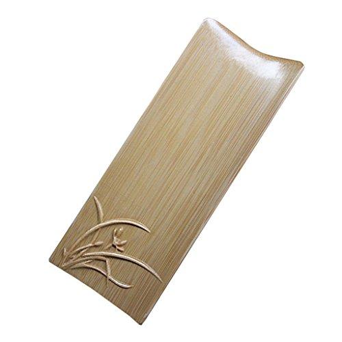 LOVIVER Pelle à Cuillère en Bambou pour Le Thé Et Le Café, Outil De Récupération De Feuilles De Thé De Kung Fu Chinois - Brun-1