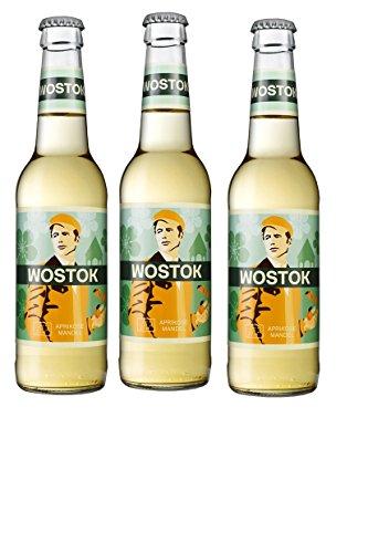 12 Flaschen Wostok Aprikose Mandel Brause a 0,33l inc. 0,96€ MEHRWEG Pfand