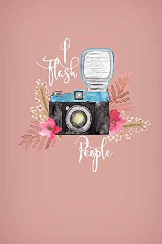 I Flash People: Photographer Gifts, Camera Paper Pad, Photographer Notebook, Phtography Journal, Compendium Journal, Women With Cameras, Vintage Camera Gifts, 6x9 notebook college ruled