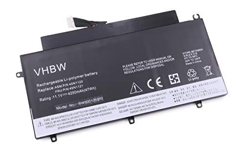 vhbw Li Polymer Akku 4250mAh 111V passend fur Notebook Laptop Lenovo Thinkpad T431s ersetzt 45N1121 45N1122 45N1123