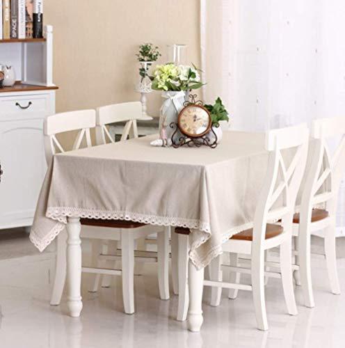 Manteles lino algodón rectangulares mesa, estilo