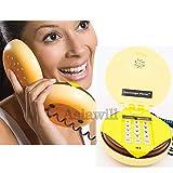 Teléfono en forma de hamburguesa con queso de Asiawill Novelty JUNO para casa y escritorio con cable