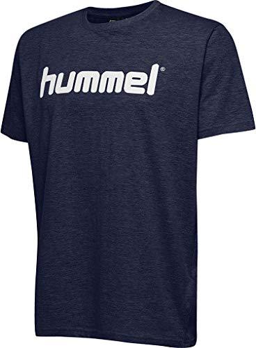 Hummel Herren Hmlgo Cotton Logo T shirts, Marine, M EU